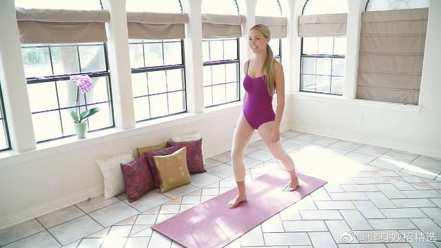 瘦腿训练,体操运动员日常练习,消灭腿内侧赘肉,居家可练