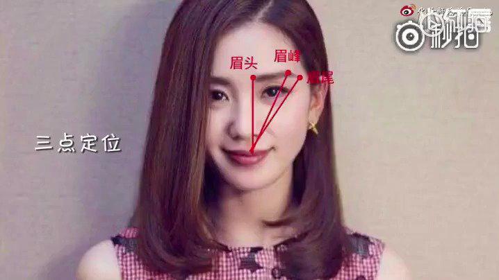 不同脸型应该怎样画眉毛不会的赶紧收o(* ̄3 ̄)o