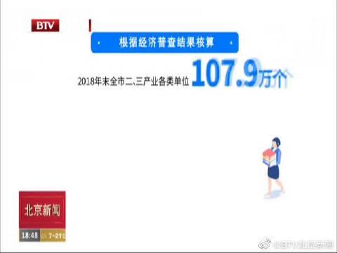 北京市第四次全国经济普查成果出炉全市GDP连上三台阶突破3万亿