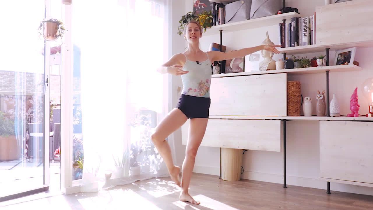 芭蕾与健身塑形芭蕾舞者教你平衡、力量的练习~11分钟锻炼