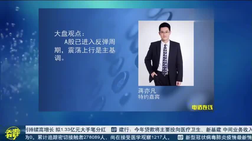 蒋奕凡:A股已进入反弹周期,震荡上行是主基调。