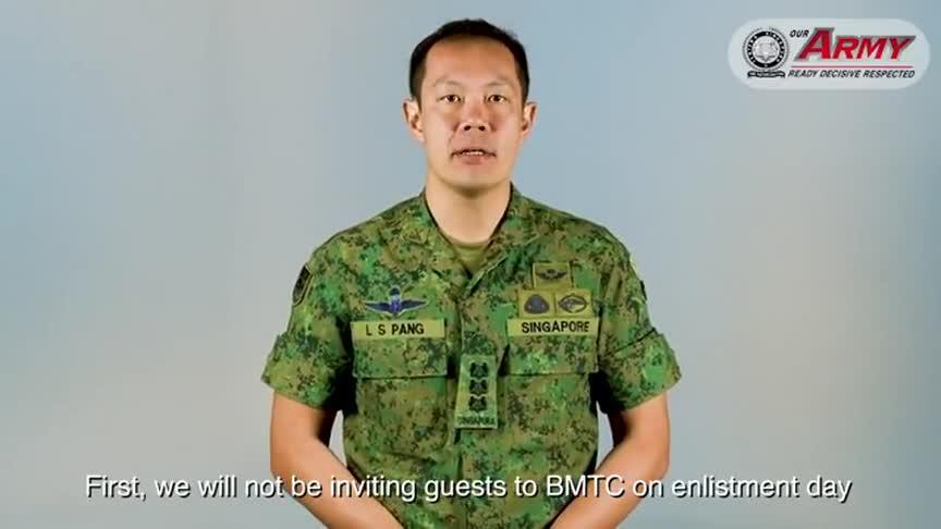 疫情之下,新加坡新兵入伍延续多年的传统将改变