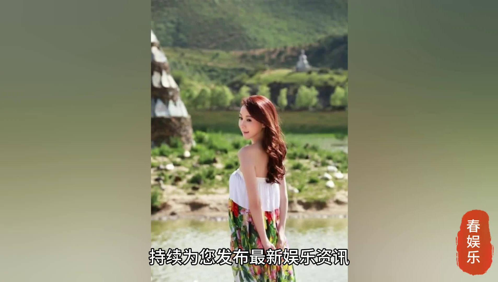 台湾第一美女萧蔷晒照,穿抹胸长裙身材好,51岁状态不错