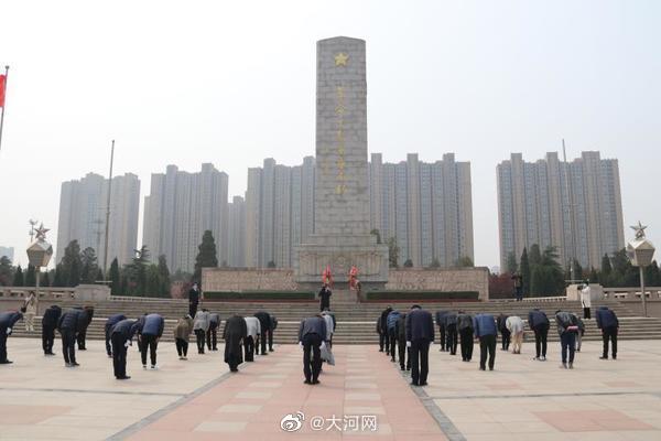 """云端寄哀思""""致敬·2020清明祭英烈""""代祭在郑州烈士陵园举行"""