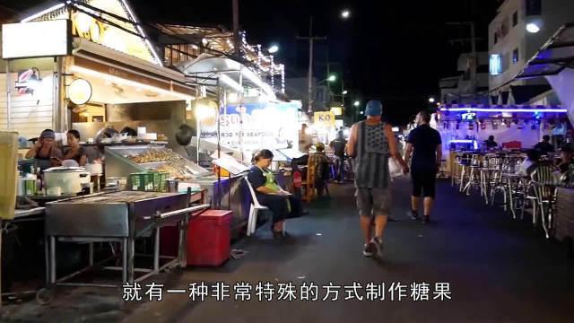街头生意超好的糖果小吃,制作过程简单有趣,在当地销量第一