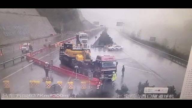 东吕高速平榆段榆社方向宝塔山隧道因病害隐患应急抢修