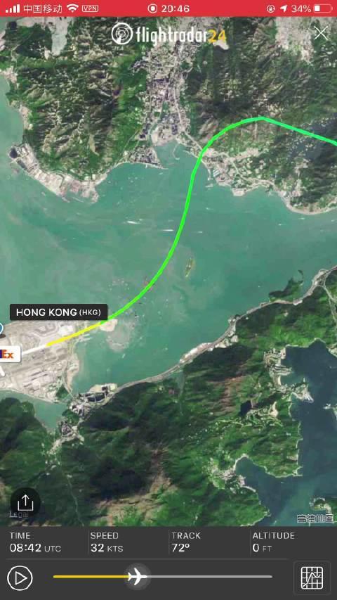 香港媒体报道美国联邦快递FedEx一架货机
