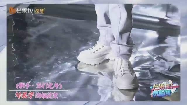 华晨宇海报拍摄花絮酷帅夹杂着可爱的花花真的太可了!