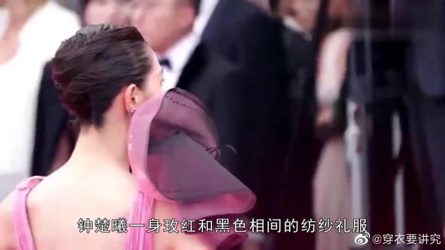国外超模红毯穿中国风礼服,模仿范冰冰不成却像网红蹭红毯?