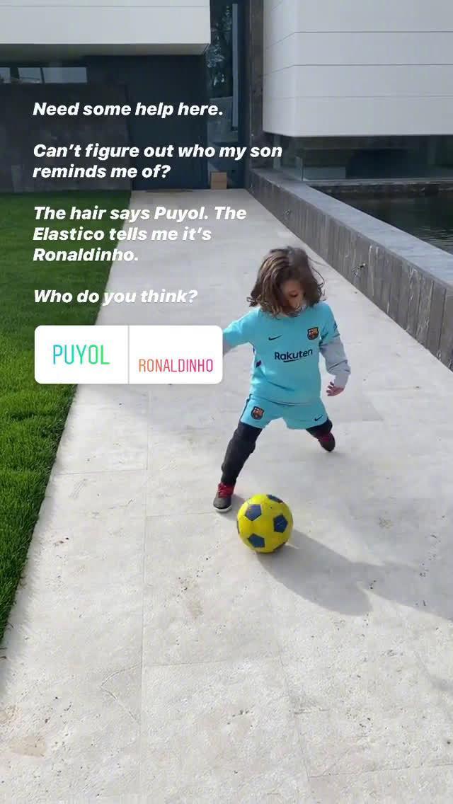 布莱斯维特晒儿子踢球:普约尔的头发
