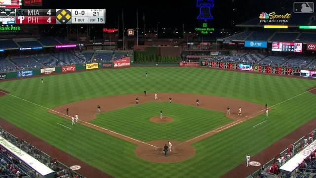 @MLB美职棒大联盟 去年费城人对马林鱼比赛的15局下(延长赛)