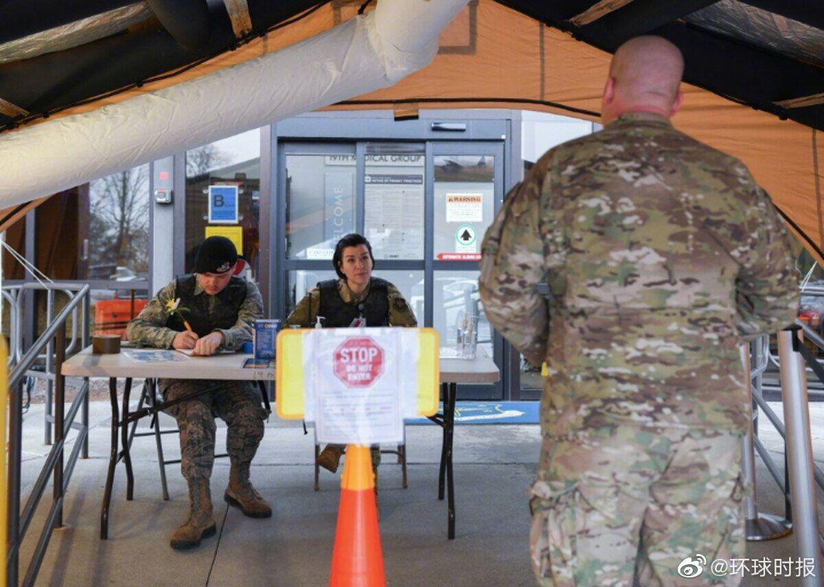 美媒:美国空军确诊病例激增 5天增长76.8%