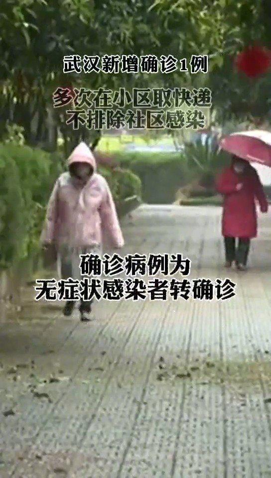 武汉新增1例新冠肺炎:一直居家,曾多次前往小区门口取快递