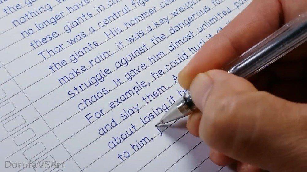 该视频引起极度舒适!这不是手是打印机吧?印刷手写风格笔迹 by