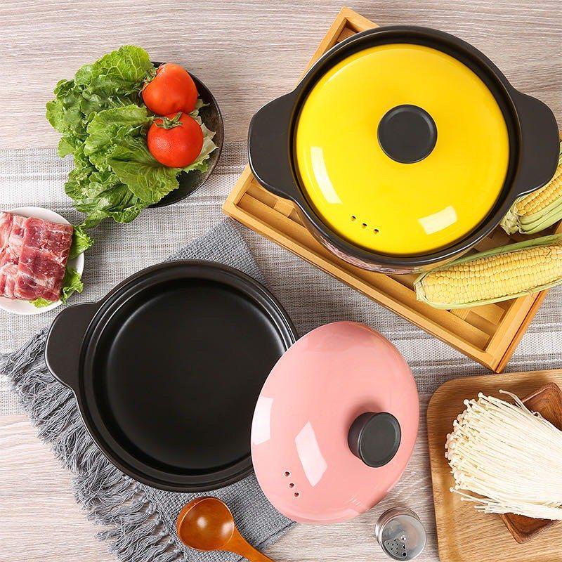 砂锅炖锅家用燃气陶瓷煲汤锅 明火耐高温大小号容量煲仔饭沙锅石锅