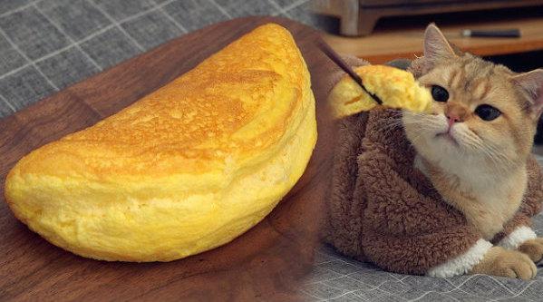 食材和做法都超简单的舒芙蕾欧姆蛋 ~码!