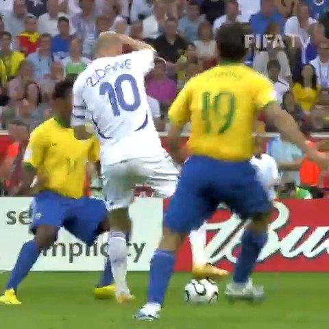 2006世界杯,法国vs巴西,齐达内的个人表演!