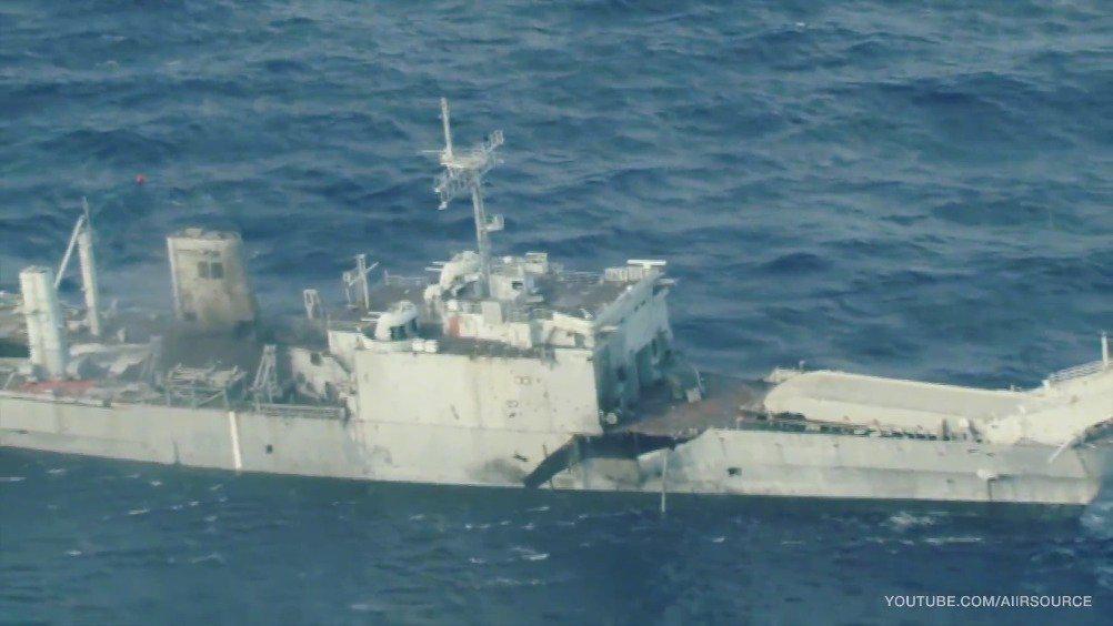 在2018年的环太平洋联合军演中,美日两军在夏威夷外海