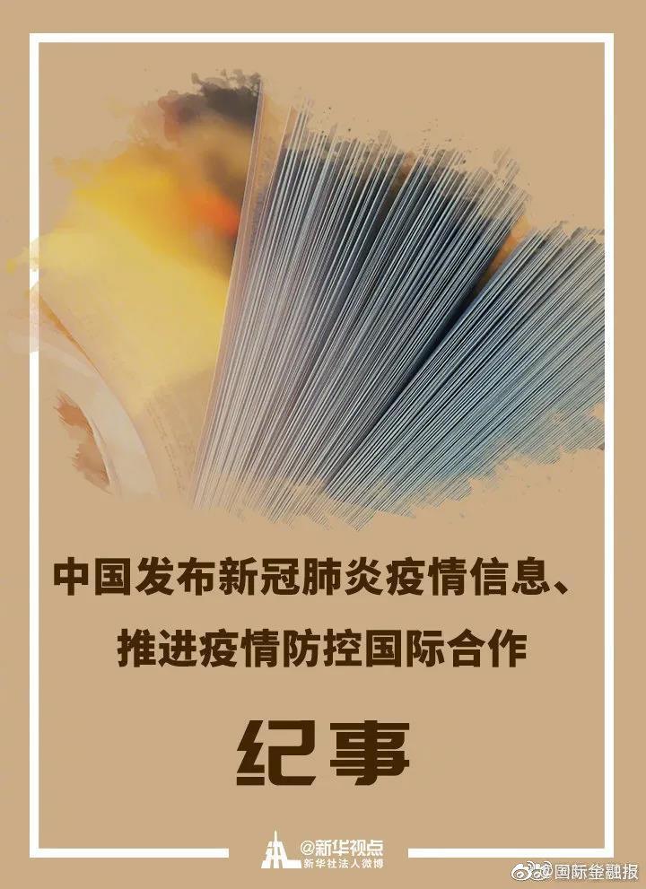 重磅速递!中国发布新冠肺炎疫情信息、推进疫情防控国际合作纪事