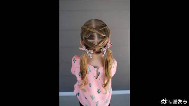 甜美的邻家小女孩扎发,美美的小女孩双马尾编发教程,宝妈看这里!