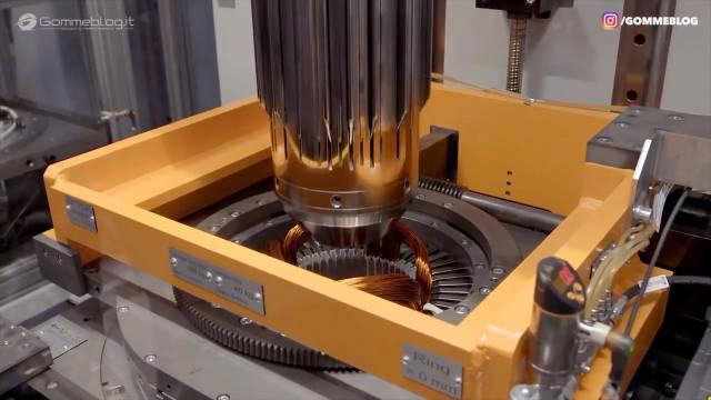 高端制造业欣赏,奥迪电动e-tron马达的制造过程