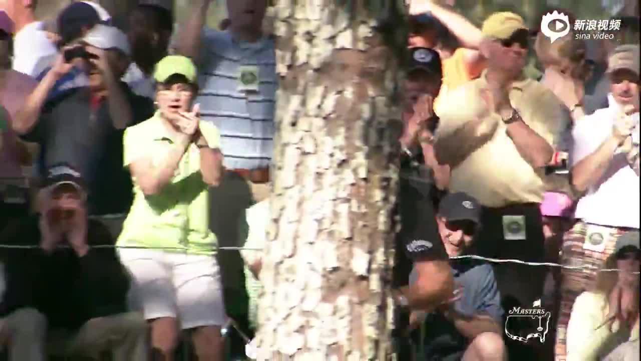 视频-美国大师赛高光时刻 2010年米克尔森树下救球