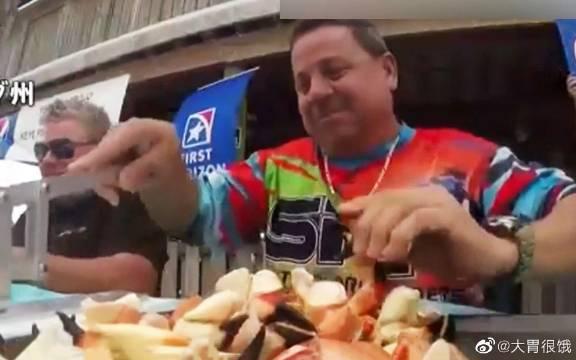 """大胃王14分钟""""横扫""""25只螃蟹!作为大胃王啊!不仅仅是要吃的多啊!"""