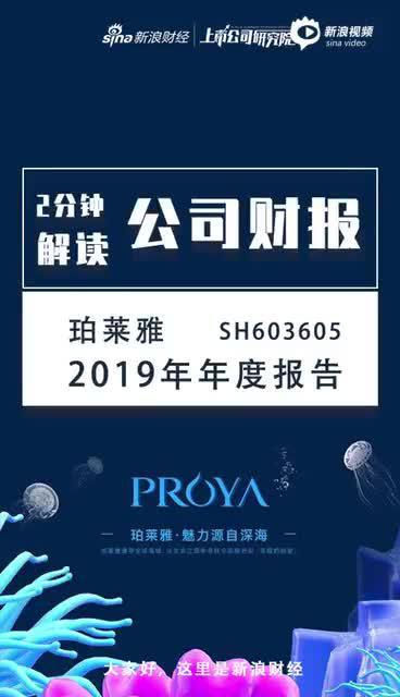 #两分钟读财报#珀莱雅2019年股价翻番、市值超越上海家化