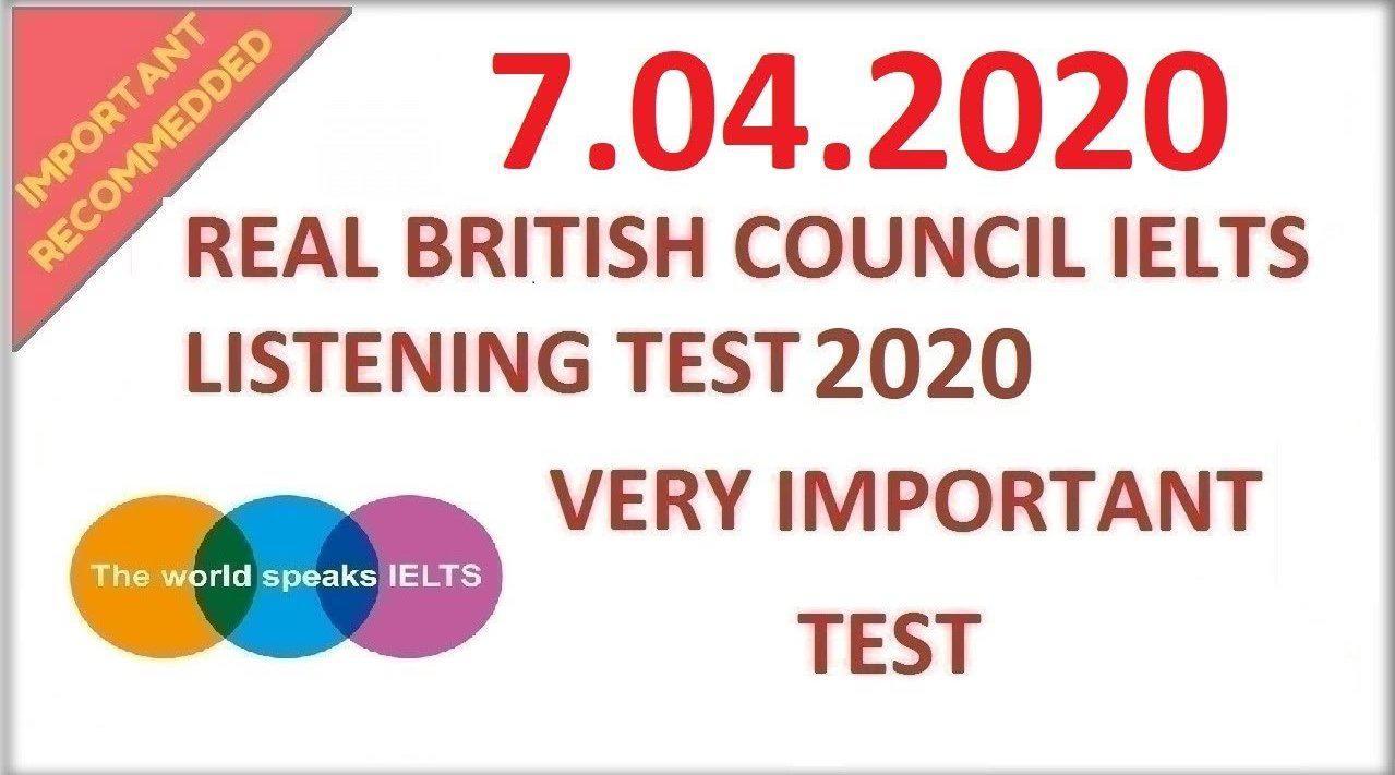 英国文化协会:雅思听力真题模拟20200407(听力原文+答案)