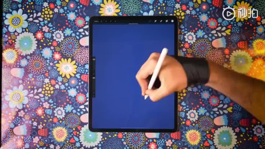 『破壳而出』iPad Pro 绘画过程 \ 插画师 Gal Shir \ App:Procr