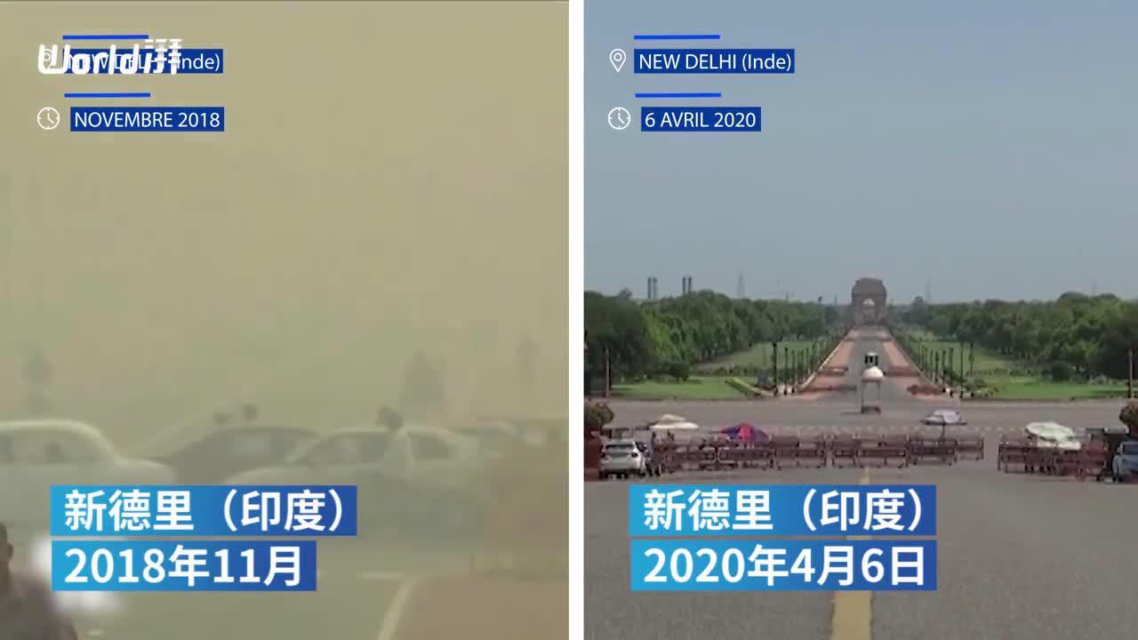 工厂停工,印度首都PM2.5指数下降71%