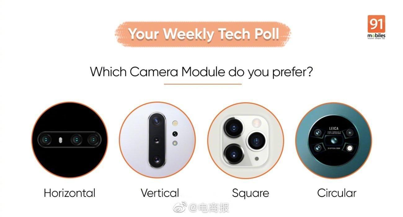 以下几种后置摄像头设计,你们喜欢哪一款?