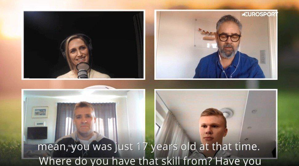 哈兰德接受《欧洲体育》采访时谈到了索尔斯克亚对他的帮助