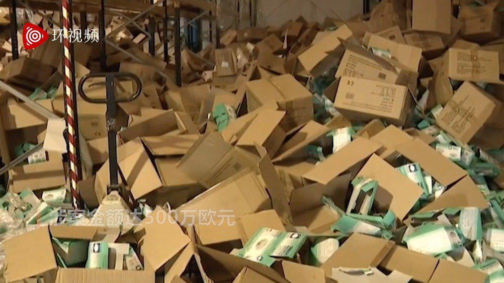 西班牙200万只口罩被盗 涉案金额500万欧元