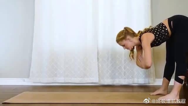 瘦腰腹运动,宅女的居家瑜伽运!!收藏吧!