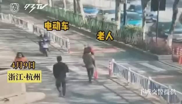 杭州下城交警:驾车骑车都一样,人行横道要让行