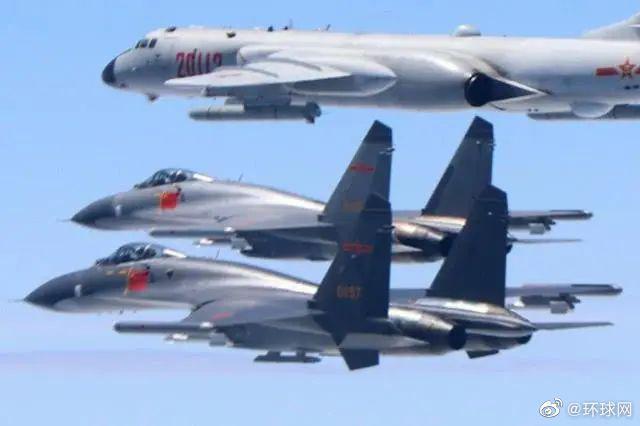台媒:解放军多型军机在台湾西南方海域执行远海长航训练
