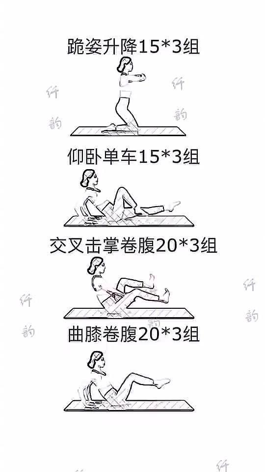 4个公认的最强瘦肚子+瘦腿燃脂动作……
