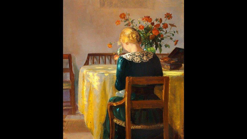 睡前欣赏 丹麦印象派女画家 安娜· 安切尔 作品 她是丹麦历史上最