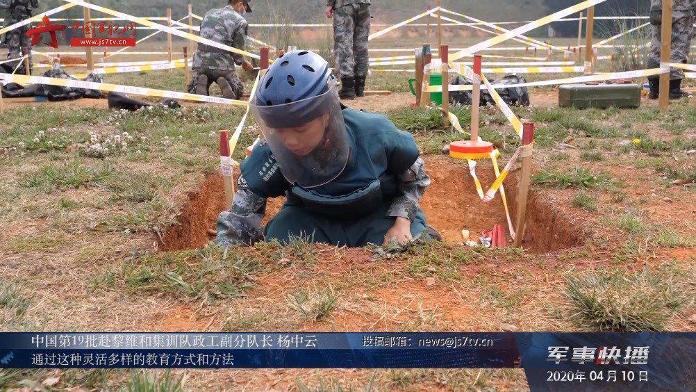 中国第19批赴黎维和集训队官兵为出征做准备