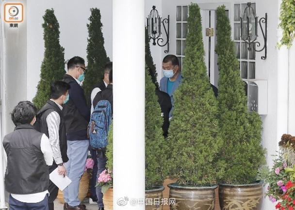 香港警方再到黎宅 拘捕黎智英图片