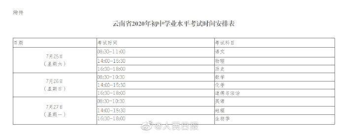 天富:云南天富中考延期至7月25至27日图片