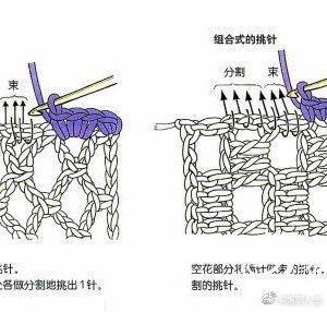 钩针挑针方法教程~钩针织片的下摆、边缘或是袖笼挑针……