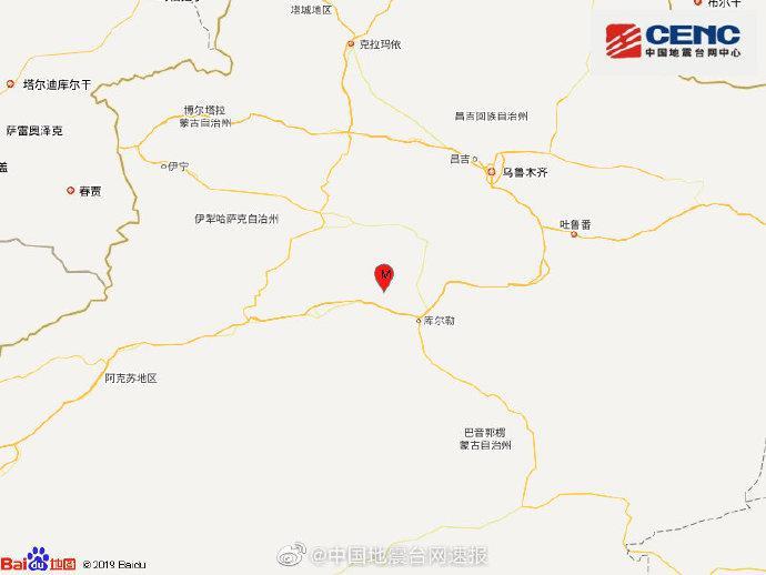 新疆巴音郭楞州焉耆县发生3.0级地震,震源深度7千米图片