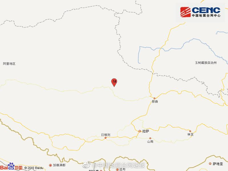 西藏那曲市双湖县发生4.2级地震,震源深度8千米图片