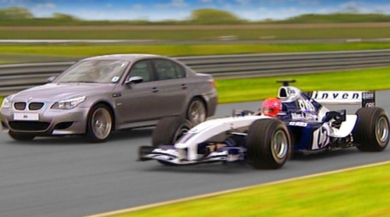 宝马M5 VS F1!这个视频很多车迷应该都看过……