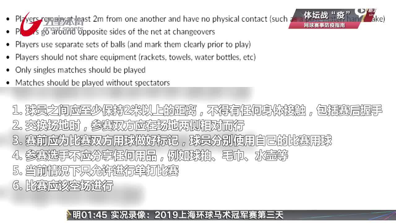 网联公布首版赛事防疫指南