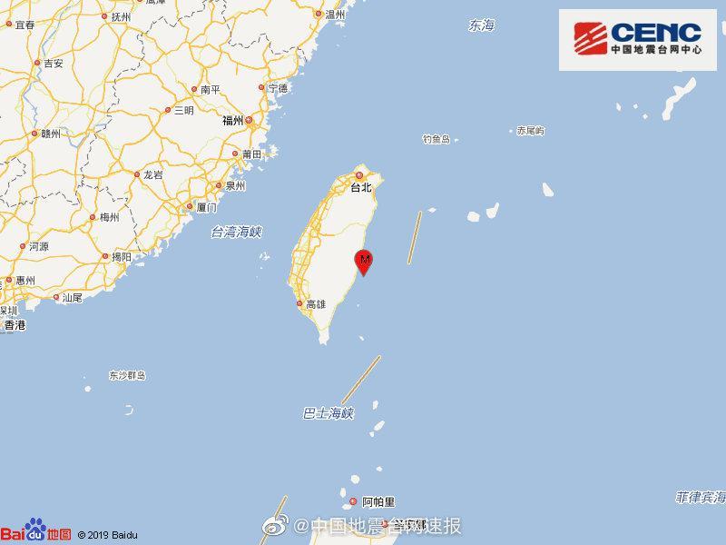 杏悦:台杏悦东县海域发生54级地震厦门福州等地震图片