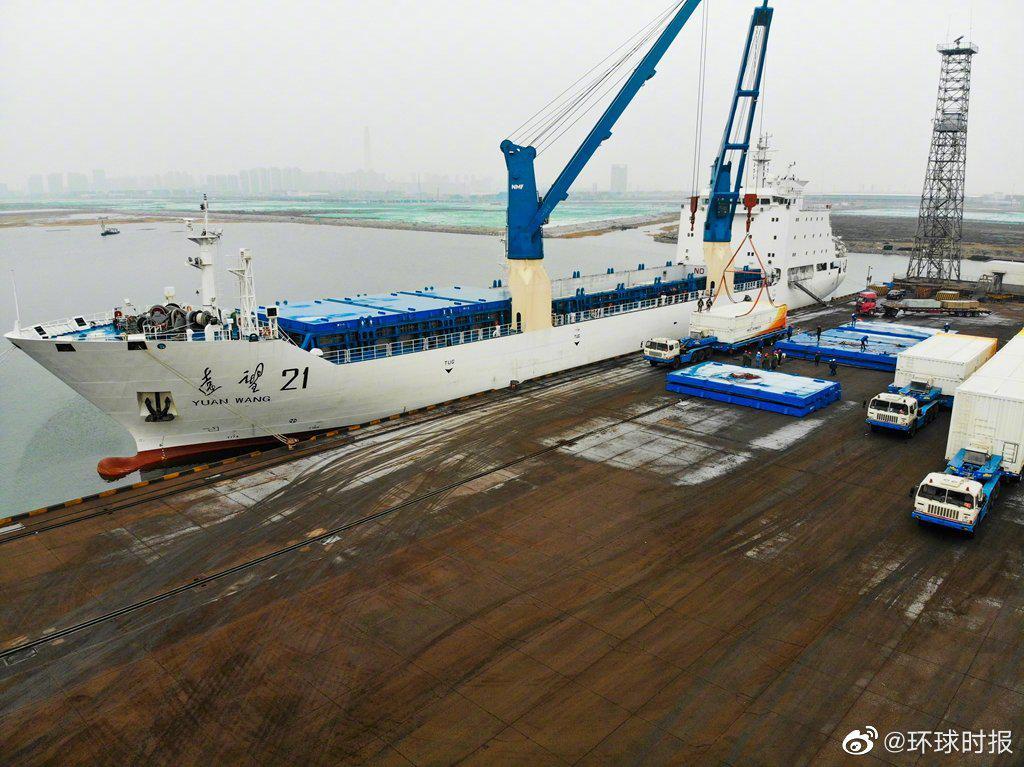 「高德平台」船抵达预定任高德平台务海域静图片