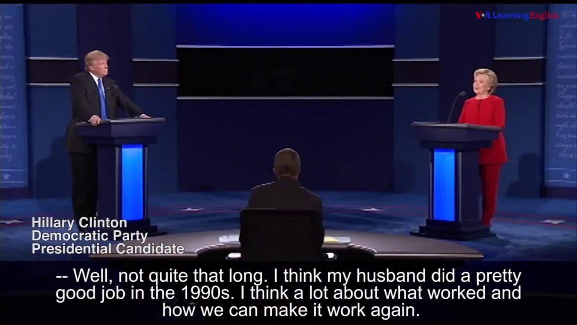经典回顾:2016年美国总统大选第一场电视辩论:希拉里